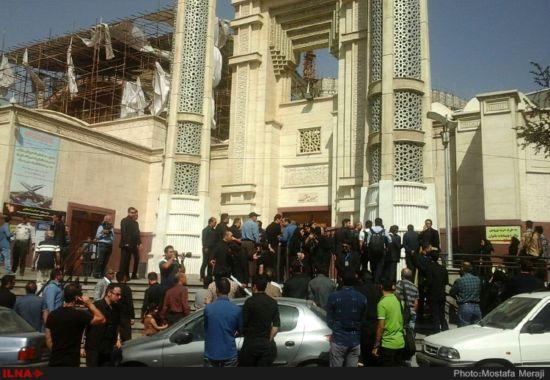 مراسم ترحیم حبیب در شهرک غرب تهران