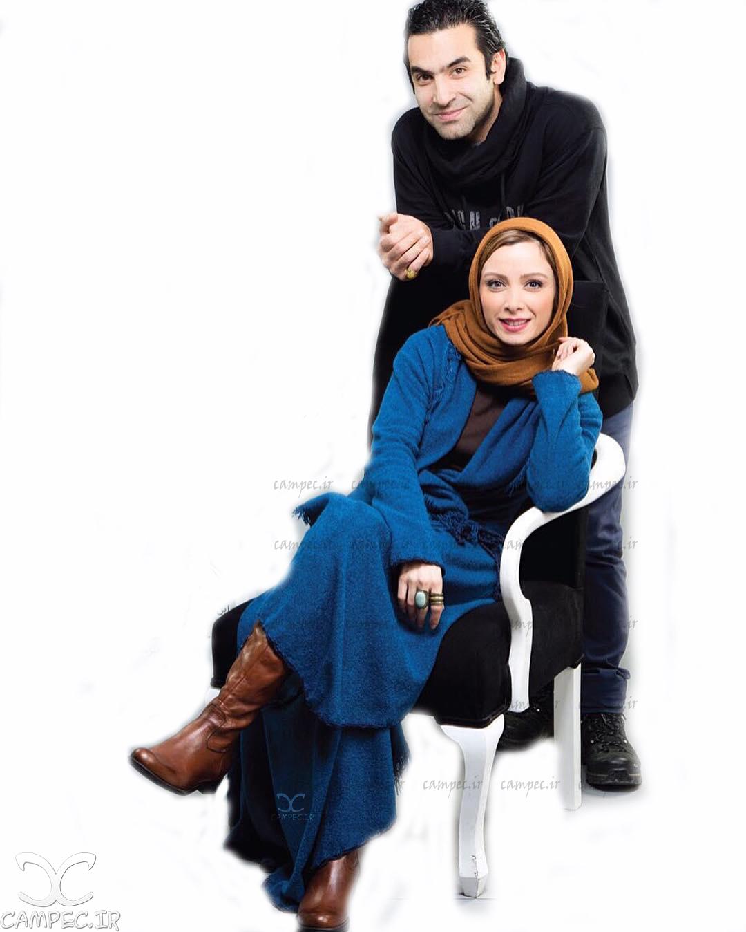 فرناز رهنما و همسرش کیارش اعتمادی
