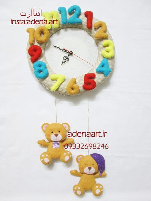 برچسب ساعت نمدی - **** نمدکده namadkadeh تزیین سیسمونی و اتاق کودک ...ساعت دیواری خرسی (فروشی). ساعت دیواری خرسی اتاق کودک.