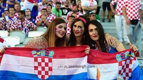 دختران هوادار کرواسی در یورو 2016 + عکس , فوتبال اروپا