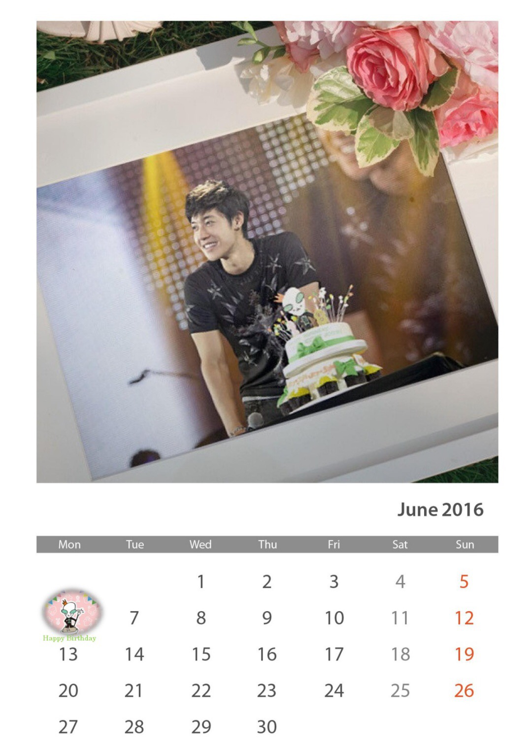 KHJ Henecia Fanart - Calendar of June 2016