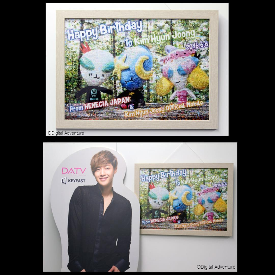 [KHJ mobile site and HENECIA JP] - The mosaic art was send to KEYEAST last week [2016.06.06]