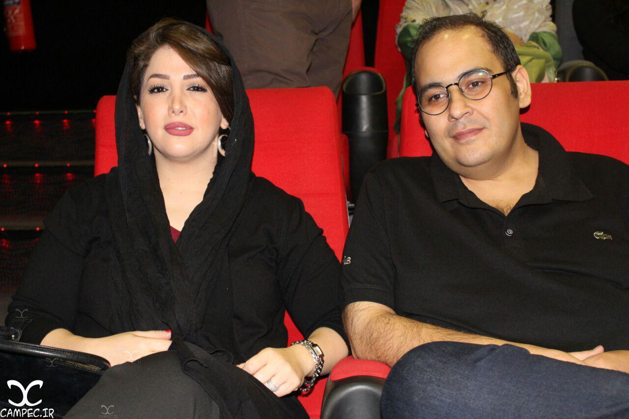 رضا داود نژاد و همسرش در اکران خصوصی فیلم زاپاس