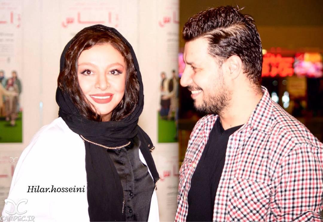 جواد عزتی و همسرش مه لقا باقری در اکران فیلم زاپاس