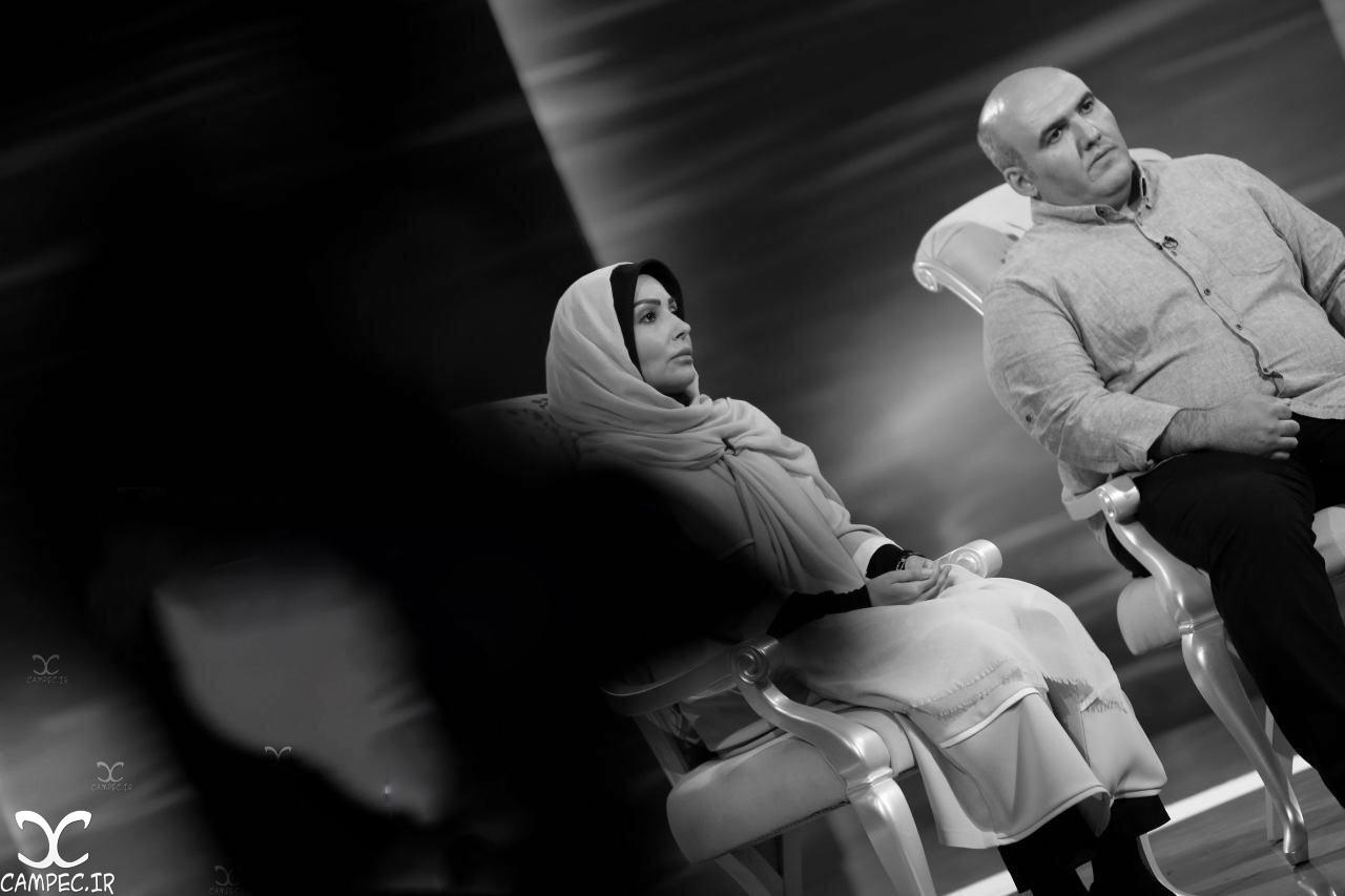 پرستو صالحی و برادرش امیر در برنامه ماه عسل