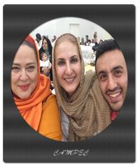 بهاره رهنما و فاطمه گودرزی با پسرش در جمع بیماران ام اس
