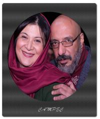 امیر جعفری و همسر و پسرش/ پشت صحنه نمايش تئاتر
