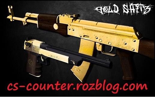 دانلود اسکین اسلحهdeagle و ak-47 برای کانتر استریک1.6