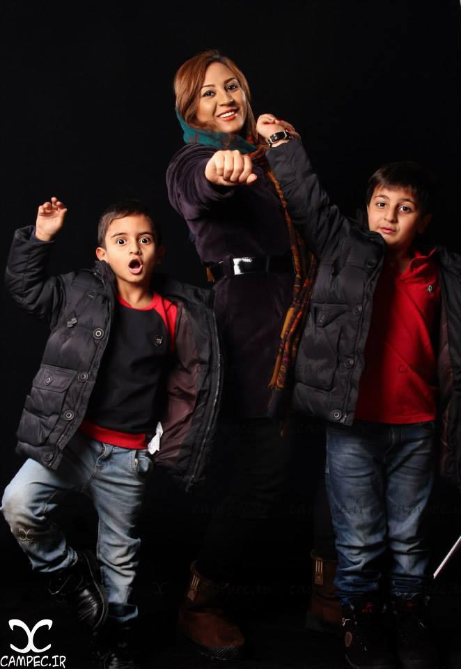 محمدرضا شیرخانلو و مادر و برادرش