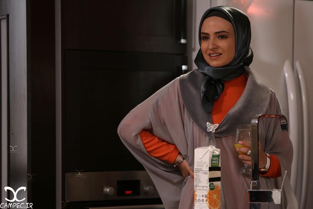 گلاره عباسی در پشت صحنه سریال برادر