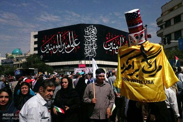 عکسها و فیلم راهپیمایی روز قدس جمعه 11 تیر 95 ماه رمضان 1395