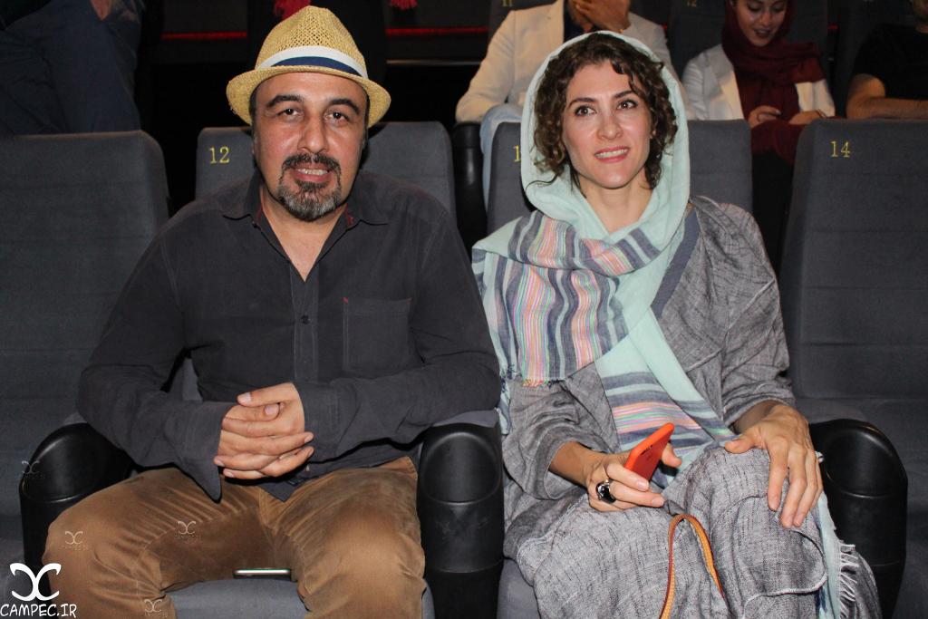 ویشکا آسایش و رضا عطاران در اکران مردمی فیلم چهارشنبه