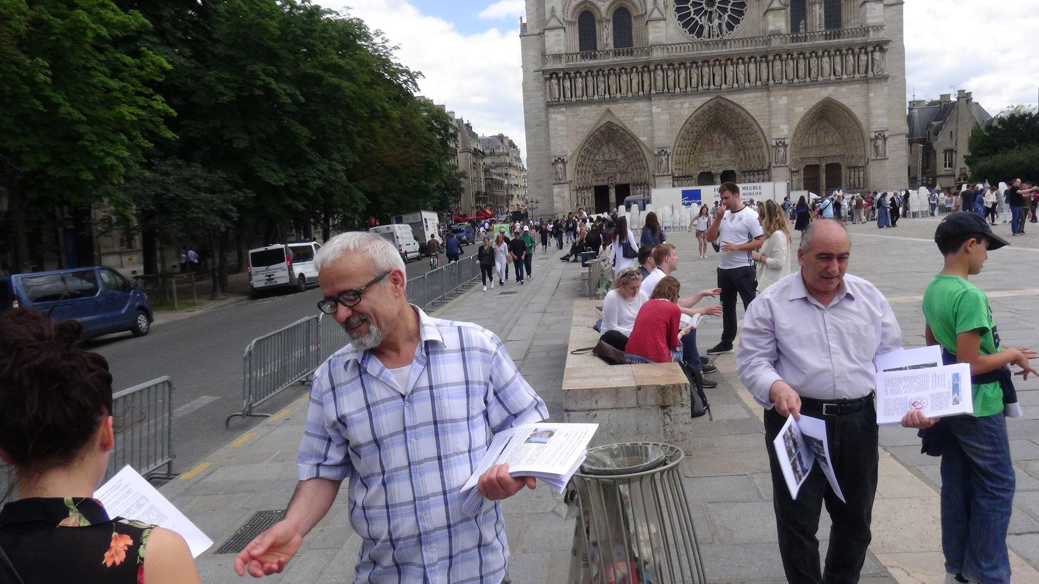 اطلاعیۀ شماره 1 فعالیتهای افشاگرانۀ گسترده توسط جداشدگان فرقۀ رجوی در فرانسه