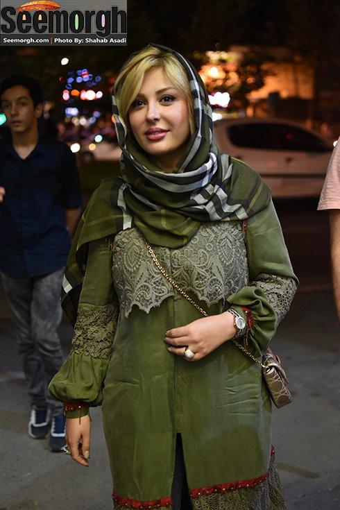 نیوشا ضیغمی و همسرش در بازارچه خیریه + عکس , عکس بازیگران