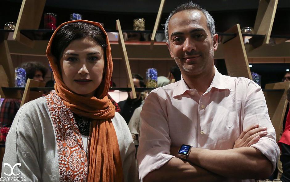 علی قربانزاده و لادن مستوفی در اکران فیلم دراکولا