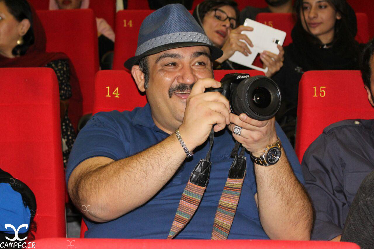 مهران غفوریان در اکران فیلم دراکولا