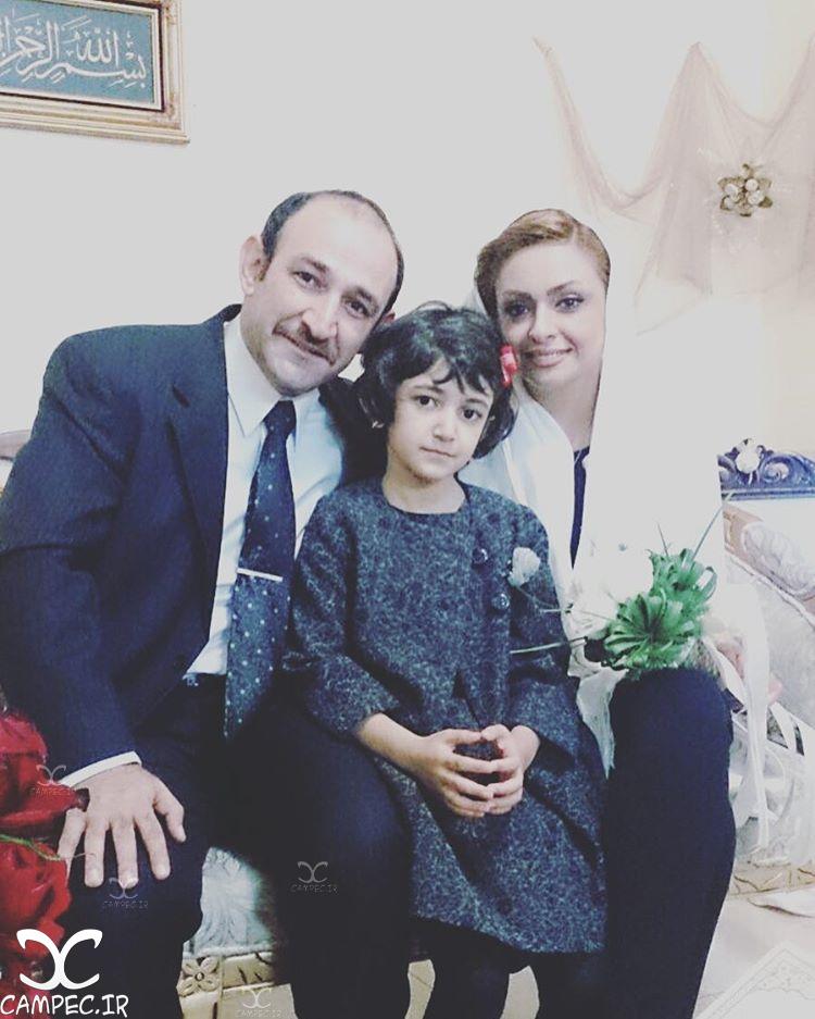 هدایت هاشمی و همسر جدیدش و دخترش