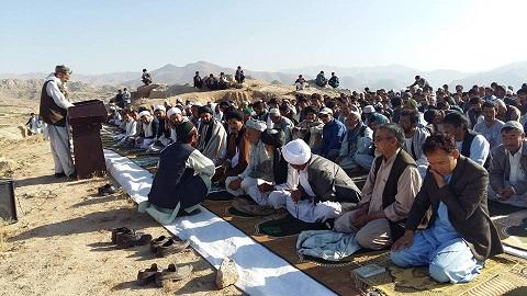 برگزاری نماز عید سعید فطر درشهر نیلی مرکز دایکندی