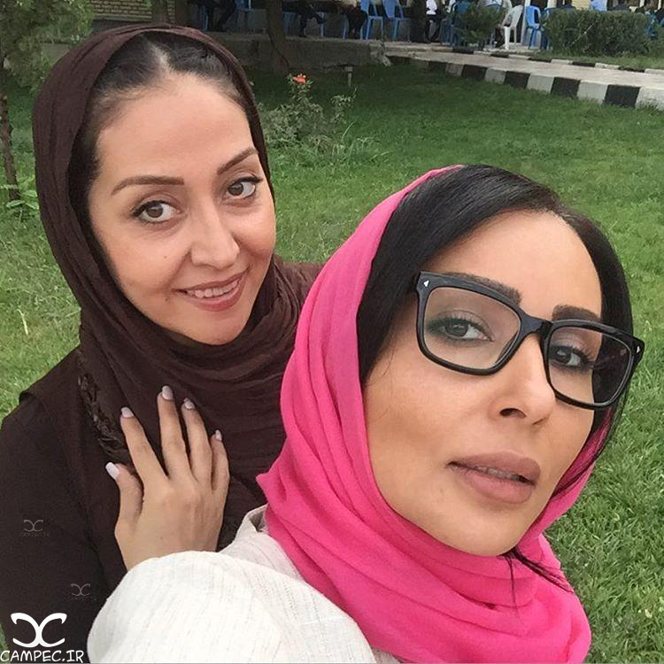 پرستو صالحی و آرزو افشار در پشت صحنه ماه عسل