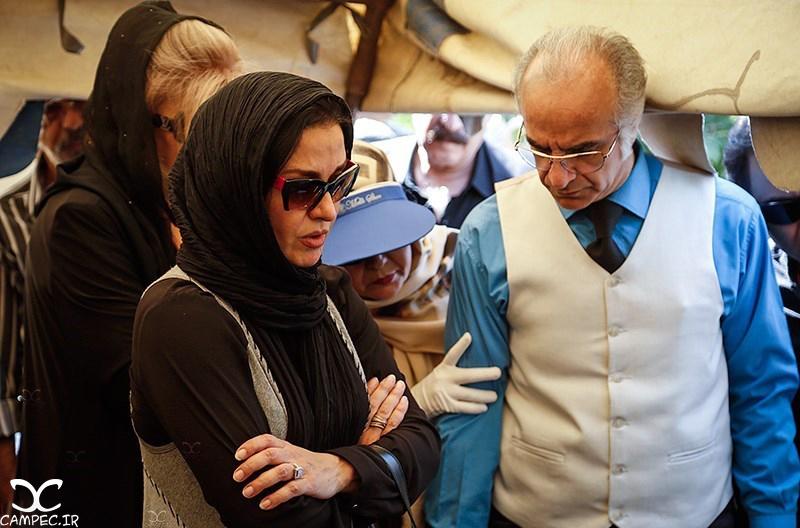 مریلا زارعی در مراسم تشییع پیکر بهمن زرین پور