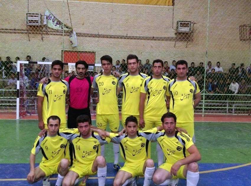 تیم فوتسال خشکبار قاضی جهان مسابقات جام رمضان گوگان سال 1395