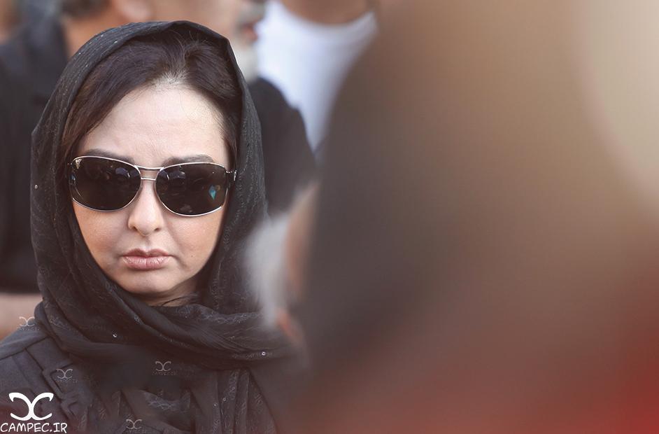 ماهایا پطروسیان در مراسم خاکسپاری عباس کیارستمی