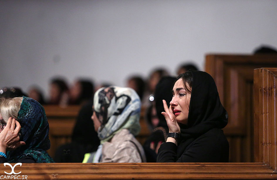 هانیه توسلی در مراسم یادبود عباس کیارستمی