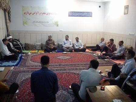جلسه هفتگی ستاد نماز جمعه بخش قهدریجان