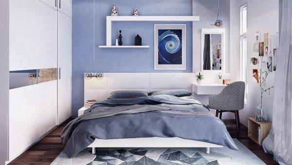 دیزاین آبی برای اتاق