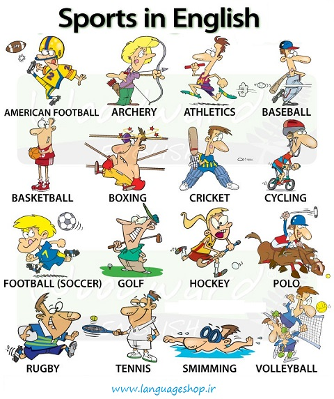 معرفی ورزش در زبان انگلیسی