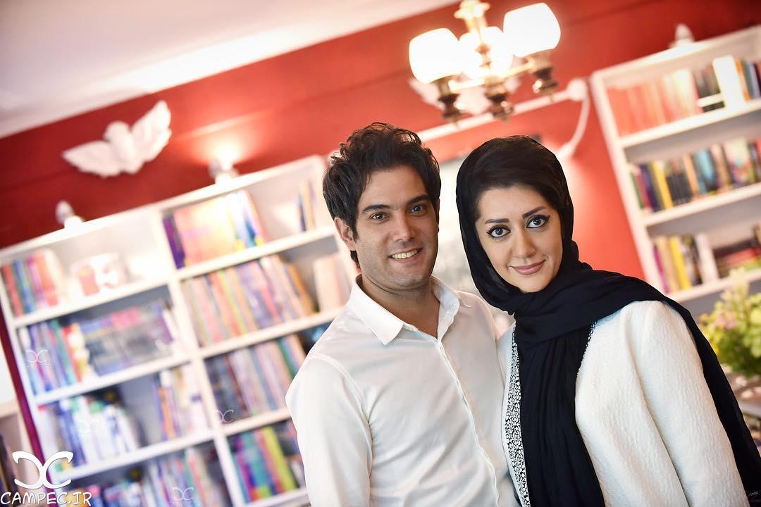 عکس جدید امیر علی نبویان و همسرش بهار نوروزپور