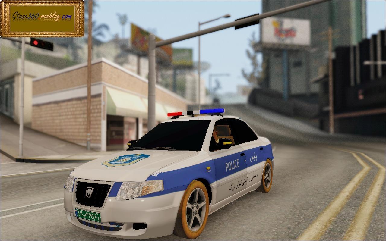 سمند پلیس راهنمایی و رانندگی برای gta sa