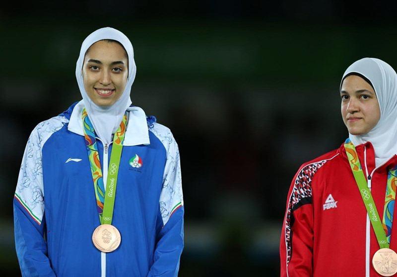فیلم مسابقات تکواندو کیمیا علیزاده در المپیک 2016 ریو+اهدای مدال برنز