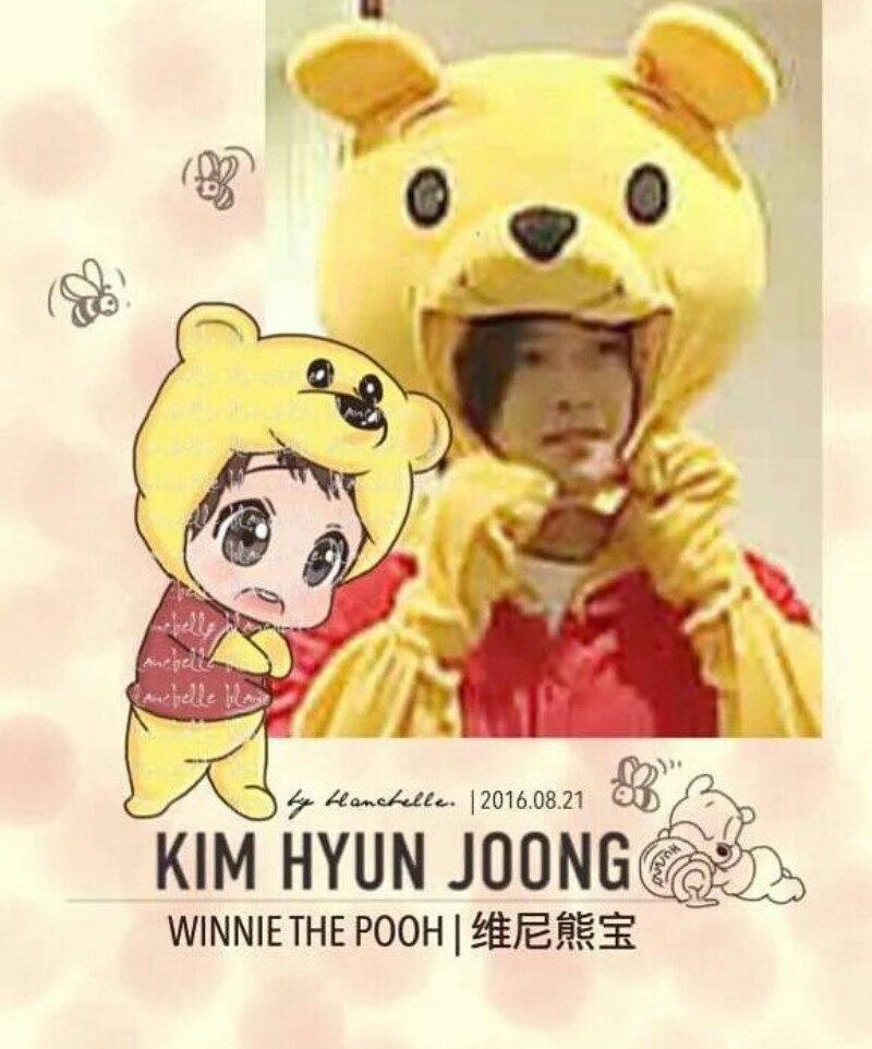 [blancbelle Fanart] Kim Hyun Joong - Winnie the Pooh [2016.08.21]