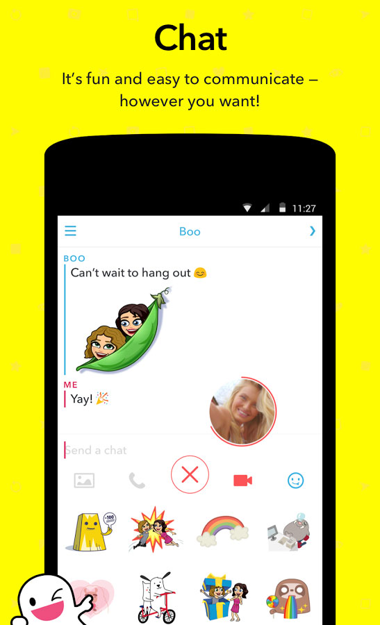 دانلود برنامه اسنپ چت snapchat برای اندروید