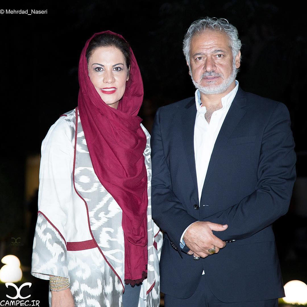 مجید مشیری و همسرش در اکران خصوصی فیلم آی آدمها