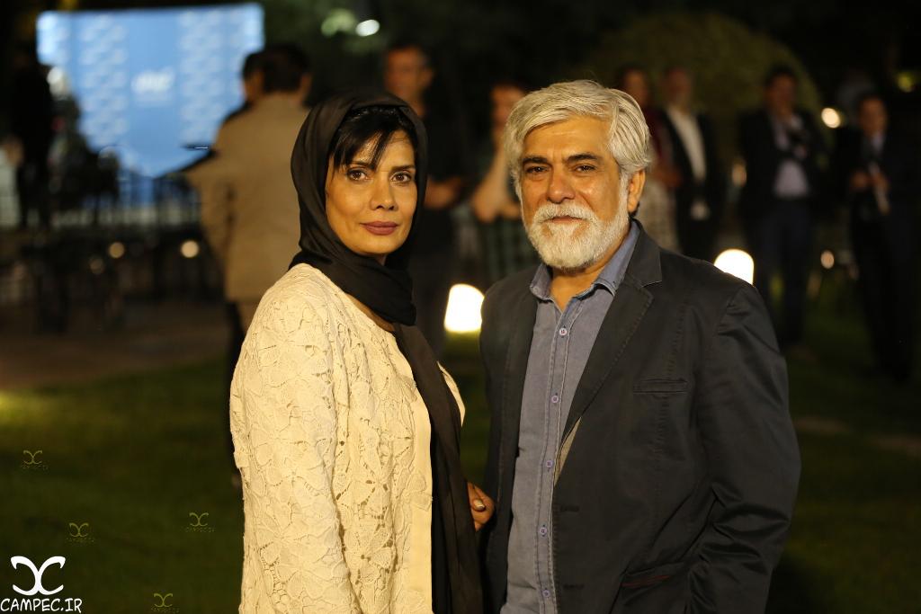 عاطفه رضوی و حسین پاکدل در اکران خصوصی فیلم آی آدمها