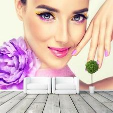 کاغذ دیواری پوستری در سالن زیبایی image