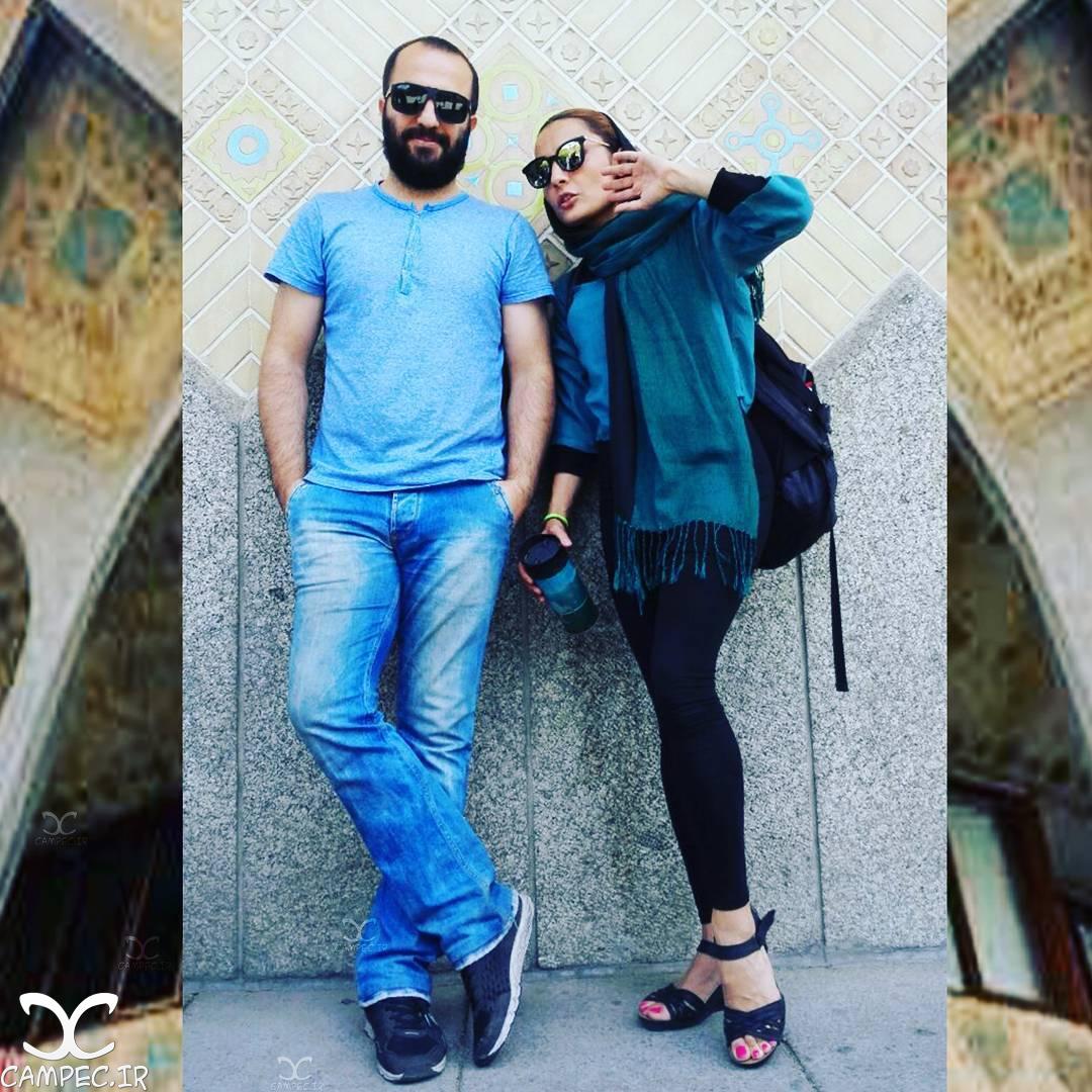 السا فیروزآذر و همسرش