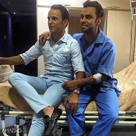 آرش برهانی و مهدی ماهانی در بیمارستان