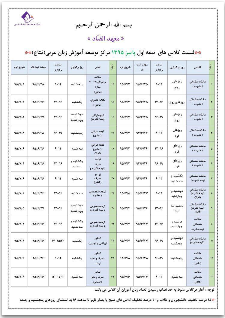 کلاس مکالمه عربی ترجمه متن خوانی عربی دانشگاه کنکور