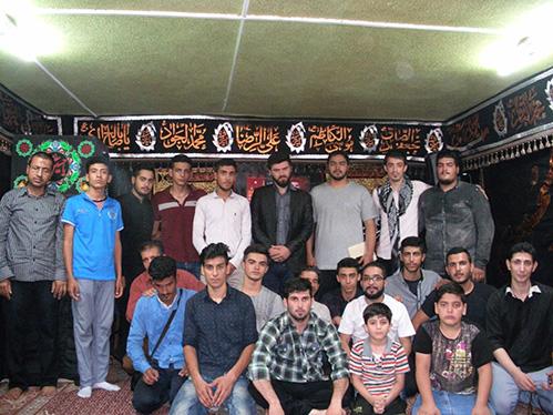 جمعی از خادمین هیئت زوّارالحسین علیهم السلام در حسینیه شهید دولت آبادی