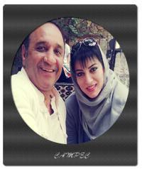 حمیرا ریاضی و همسرش علی اسیوند