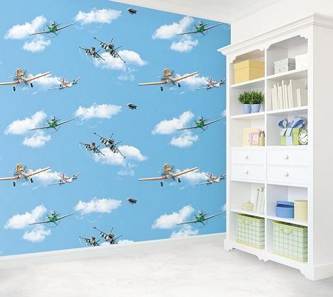 کاغذ دیواری اتاق کودک پسر- کاغذ دیواری پسرانه
