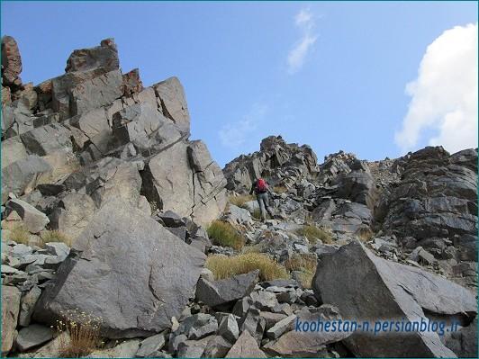 مسیر صعود قله فیل زمین