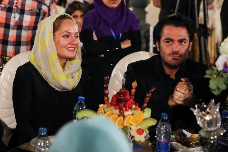 مهناز افشار و گلزار در جشن خانه سینما 21 شهریور 95