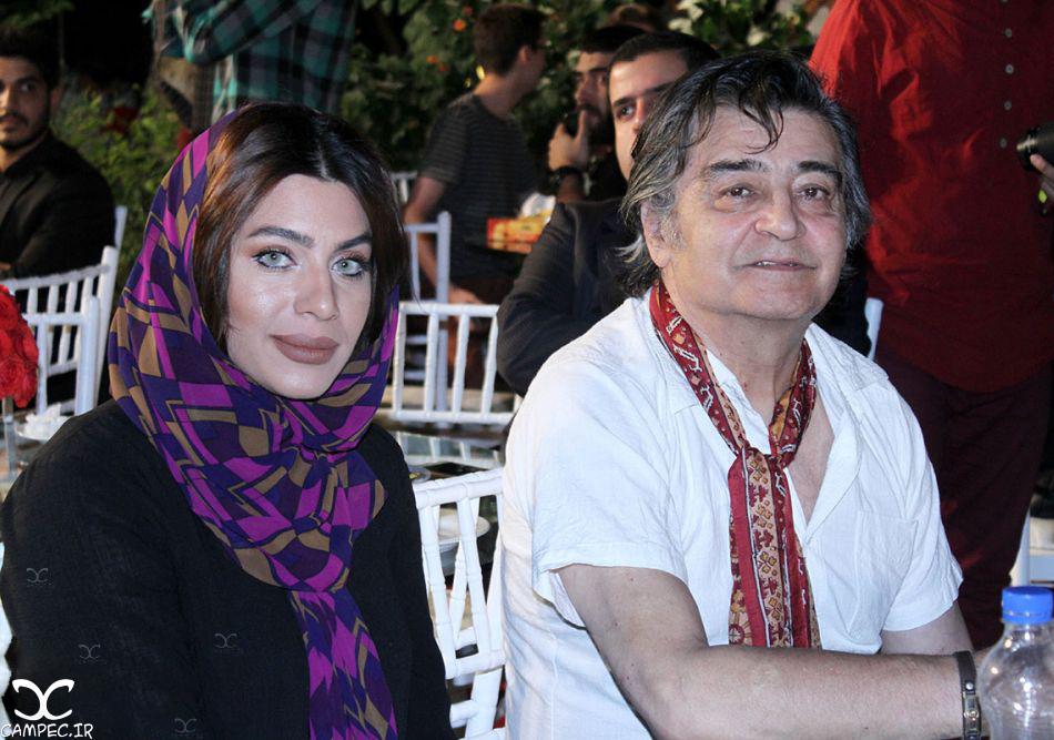 رضا رویگری و همسرش در جشن روز ملی سینما