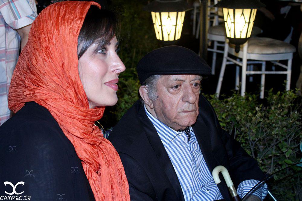 عزت الله انتظامی و مهتاب کرامتی در جشن روز ملی سینما