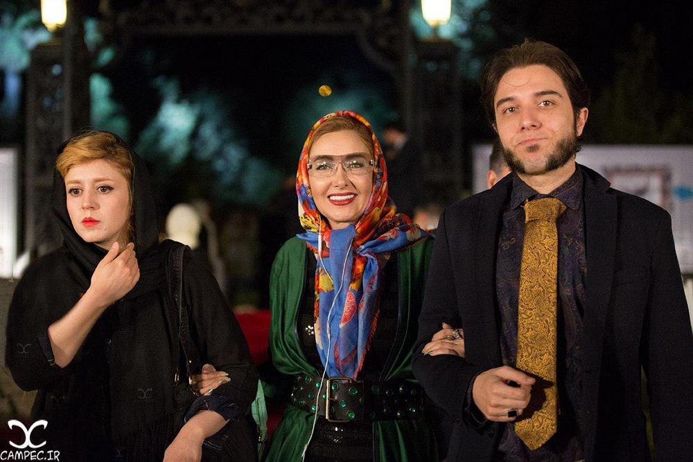 کتایون ریاحی و پسرش در جشن روز ملی سینما