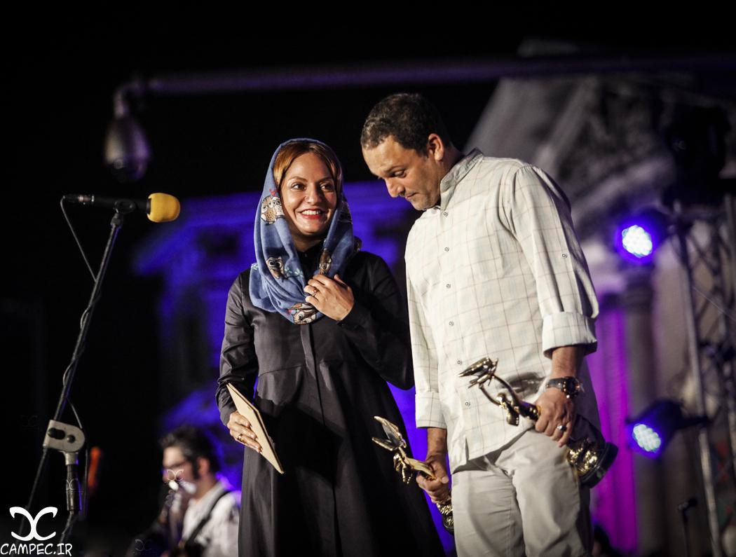 مهناز افشار و حسین یاری در هجدهمين جشن خانه سینما